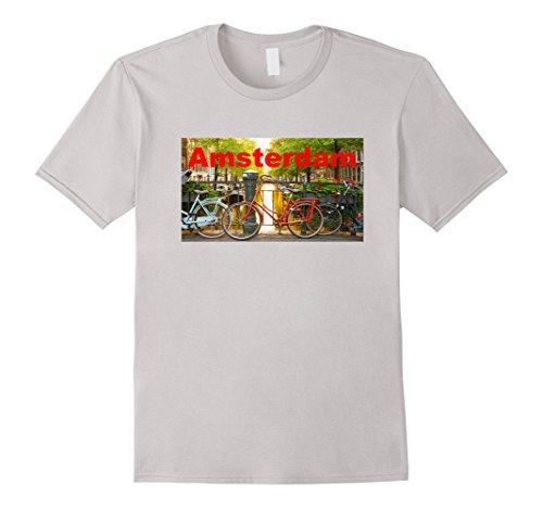 Mens Amsterdam Tee Shirt 2XL Silver (Amsterdam Tee)