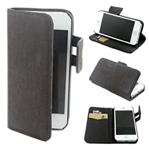 Cerhinu Squirrel Wallet Leather Flip Case Cover for Apple iphone 5 5g Gray + 1 Gift
