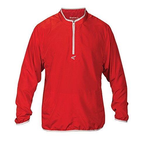 Easton Boys M5 Youth Long Sleeve Cage Jacket, Red/Silver, Large ()