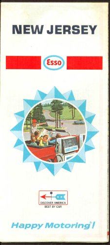Esso Gasoline Road Map New Jersey 1968 ()
