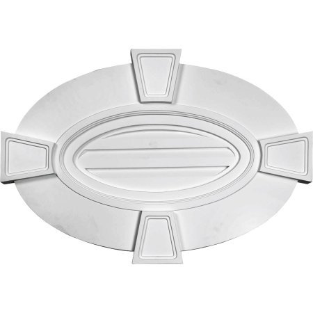"Price comparison product image 29""W x 20""H x 1 3/4""P, Horizontal Oval Gable Vent Louver with Flat trim & Keystones, Decorative"