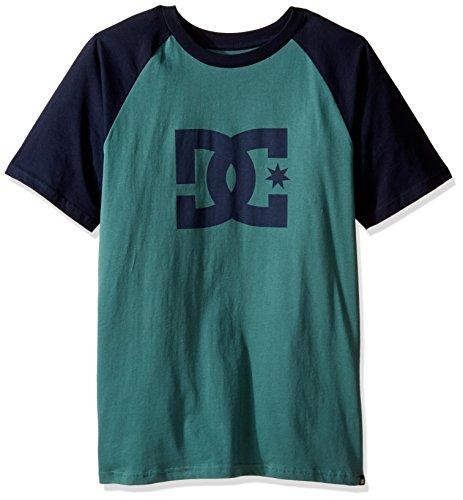 DC Shoes Men's Star Raglan SS T Shirt Green Blue L
