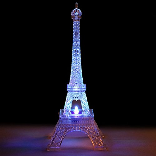 Quix Otic Light Changing Acrylic 10 Inch Eiffel -