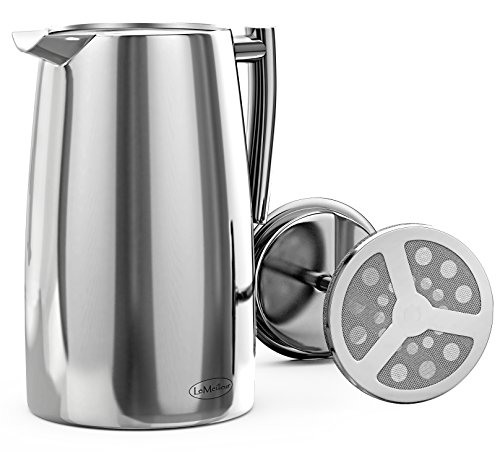 Le Meilleur French Press Coffee Maker : LeMeilleur French Press Coffee Maker - Shatterproof - Quality Anti Rust 18/10 Stainless Steel ...