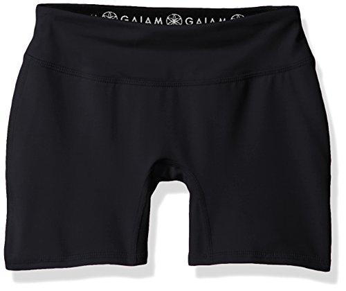 Boy Yoga Short (Gaiam Big Girls' Yoga Boy Short, Black, 10/12)