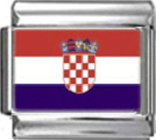 - Stylysh Charms Croatia Croatian Flag Photo Italian 9mm Charm PC042 Fits Nomination Classic