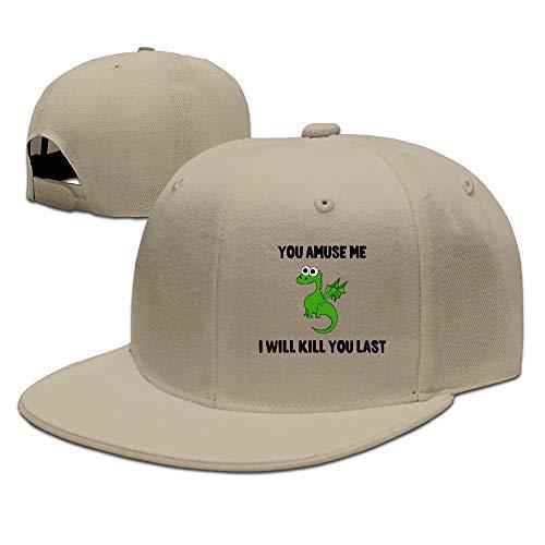 Sdkkfbha You Amuse Me Dragon Unisex Adjustable Flat Visor Hat Baseball Cap