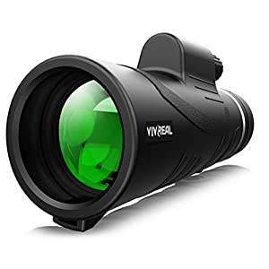 Monocular Telescope – 12X42 High Power Monocular for Bird Watching, IPX7 Waterproof HD Monocular with Tripod Made by…