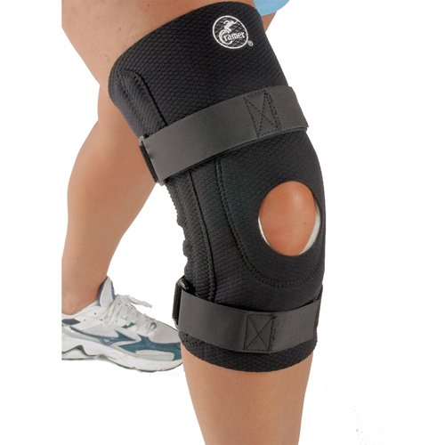 (Cramer Diamond Knee Stabilizer, Padded Knee Brace for ACL & MCL Support, Brace for Knees for Sports, Arthritis, Injury Recovery, Adjustable Knee Brace with Straps & Open Knee Cap for Patella, Black)