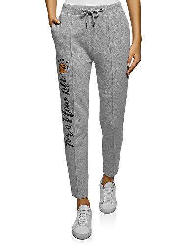 oodji Ultra Mujer Pantalones Deportivos con Inscripción: Amazon.es: Ropa y accesorios