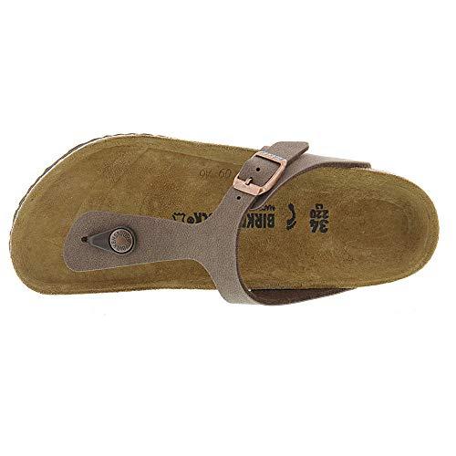 Birkenstock Gizeh Kid's Mocha Birkibuc Sandal 32 N EU (US 1-1.5 Little Kid) by Birkenstock (Image #1)
