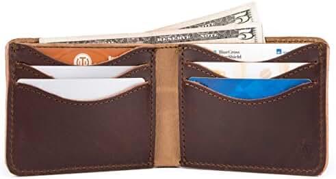 Saddleback Leather Medium Bifold Wallet - Bestselling, RFID-Shielded, Classic Men's, Full Grain Leather Wallet