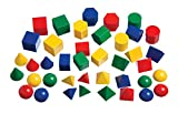 Learning Advantage Mini Geometric Solids - Set of 40 - Multicolored 3D Shapes