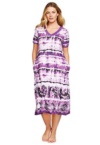 dreams-co-womens-plus-size-short-knit-lounger-wild-berry-tie-dye2x
