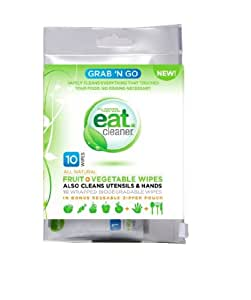 Vegetable Wipes, Grab N' Go Fruit, 10 per Pack. This multi-pack contains 3 packs.