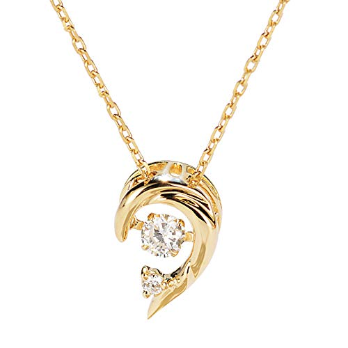 Unique 18k gold dolphin diamond collarbone chain dancing diamond necklace birthday gift present necklace for women