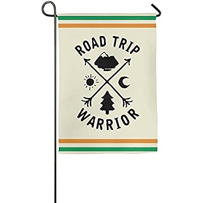 Starwshton Road Trip Warrior Garden Flag Indoor & Outdoor Decorative Flags For Parade Sports Game Family Party Wall Banner