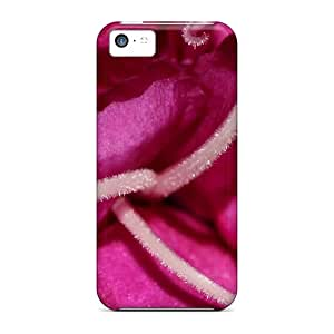 Durable Protector Case Cover With Pink Flower Macro Hot Design For Iphone 5c