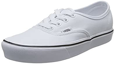 Vans Authentic Lite Sneakers (Canvas) True White Mens 5