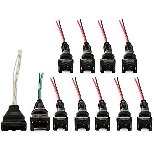 ECCPP Fuel Injector AFM TPS Wiring Harness Connector Kit Replacement for Datsun 280z Nissan ()