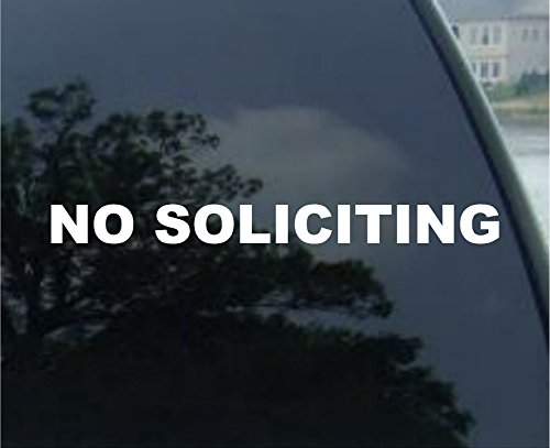 No Soliciting Vinyl Decal Sticker, White