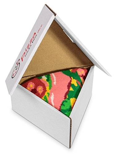 Pizza Socks Box Italian 1 Pair Cotton Socks Made In Europe Size Man Funny Gift