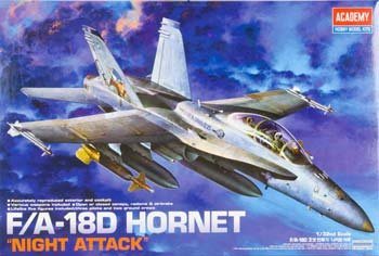 F/A-18D Hornet Night Attack 2 Seater 1/32 Academy