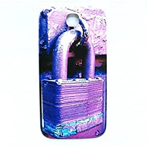 HJZ Purple Lock Pattern Thin Hard Case Cover for Samsung Galaxy S4 I9500