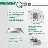 QPLUS 4 Inch Ultra-Thin Adjustable Eyeball Gimbal