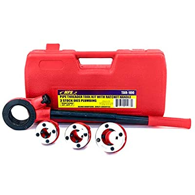 """HFS (R) Pipe Threading Tool with Ratchet Handle - 1/2"""", 3/4"""", 1"""""""