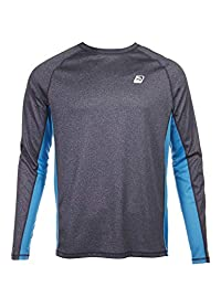 Laguna Men's Surf Beat Long Sleeve Rash Guard Swim Shirt with UPF 50+