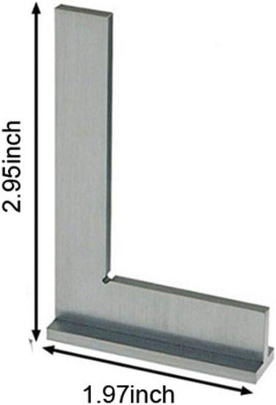 75x50mm 75x50 100x70mm Machiniste /équerre 90 degr/és /à angle droit ing/énieur au sol en acier avec si/ège de Pr/écision Angle R/ègle 50x40