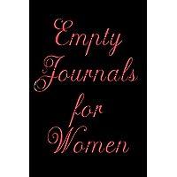 Diarios vacíos para mujeres: cuaderno de cuaderno forrado para escribir
