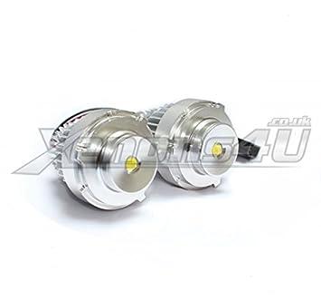 BMW E60 E61 LCI Facelift H10 W - Faro delantero halógeno faros Angel Eyes  10 W LED marcador Upgrade Kit de bombillas xenon color blanco 6000 K   Amazon.es  ... d783fe3f364e