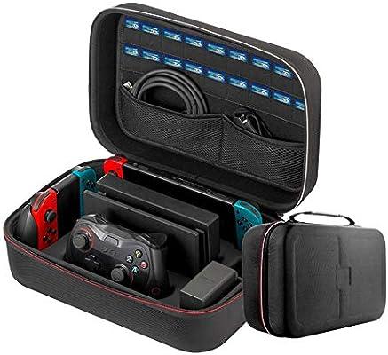 Hook.s Estuche portátil Compatible con Nintendo Switch, Accesorios de Gamepad de Gran Capacidad Maletín de Viaje y Almacenamiento para Nintendo Switch, Consola y Accesorios: Amazon.es: Deportes y aire libre