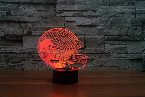 Football Helmet Light - Touch Control Football Team Light Lamp- 7 Color Changing Touch Light - Night Light for Boys Men Women for Football Sports Lovers (Cleveland Browns)