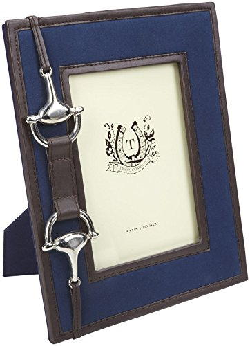 Two's Company Horse Bridle Accent 5 x 7 Frame, Blue