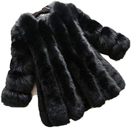 女性のソリッドシンプルフェイクファージャケットラグジュアリーノーブルアウターウェアファーコート冬