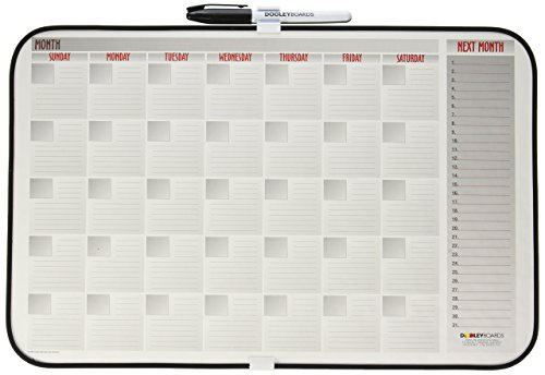 Dooley Boards Vinyl - Dooley Vinyl Framed Calendar Board, 11 x 17 Inches, 1 Board (1117CALV)