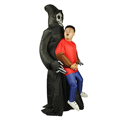 Halloween Costume Inflatable Reaper Fancy Dress Costume Ghost Cosplay (Hollaween Costumes)
