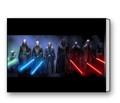 Sith Art (Jedi And Sith Star Wars Canvas Prints for Modern Wall Art for Home Decoration 16 X 12 Inch)