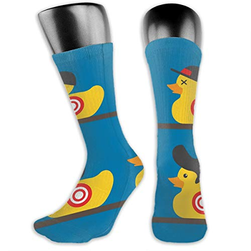 TLDRZD Unisex 3D Socks Rubber Yellow Duck Art Adult One Size Crazy Tube Funny Novelty Polyester Fibre Socks -