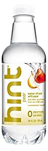 Hint Water Pear (Pack of 12) 16 Ounce Bottles Pure Water Infused with Pear Zero Sugar Zero Calories Zero Sweeteners Zero Preservatives Zero Artificial Flavor