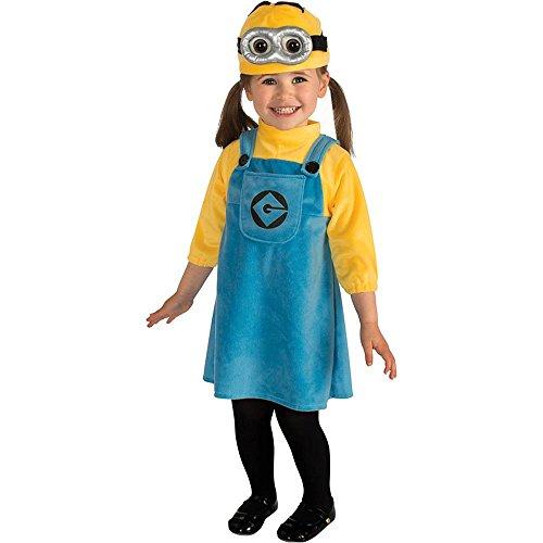 [Despicable Me Female Minion Toddler Costume - Toddler] (Child Female Minion Costumes)