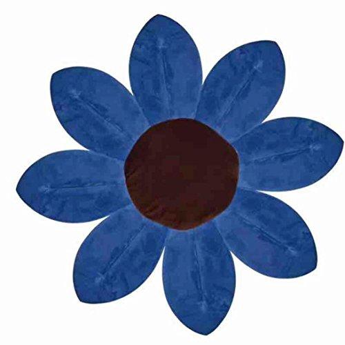 Omiky® Blühende Bad-Blumen-Bad-Wanne für Baby-blühende Wanne-Bad für Baby-Säugling Lotus Dunkelblau