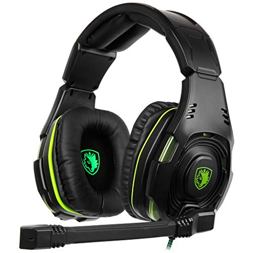 Price comparison product image BIYATE Gaming Headset for PS4,  Xbox One,  PC,  Professional 40mm Driver,  50mm Speaker Surround Stereo Game Headphones with Noise Cancelling Mic & Volume Control for Nintendo Switch,  Laptop iPad