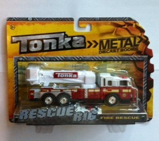 (Tonka Rescue Rig Fire Rescue (Red Truck with White Ladder))
