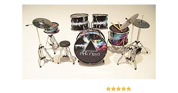 RGM324 Nick Mason Pink Floyd - Kit de tambor en miniatura para Rock guitar miniatures, Nick Mason Roger Waters Richard Wright David Gilmour