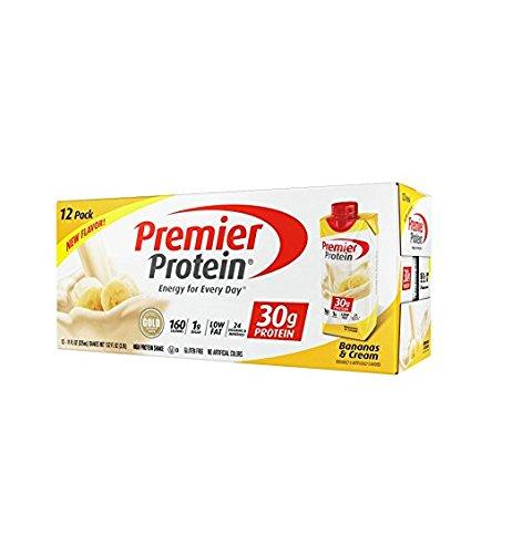 - Premier Protein High Protein Shake, Bananas & Cream (11 fl. oz., 12 pack)
