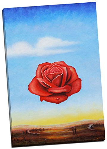 (Panther Print Salvador Dali Rose Canvas Print Picture Wall Art Large 30X20 Inches)